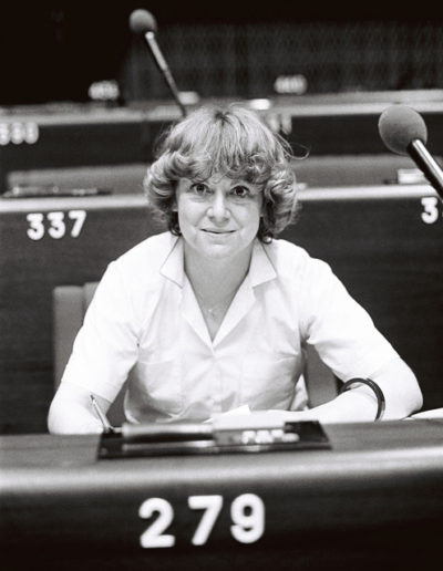 The MEP Anne-Marie A. LIZIN during a session in Strasbourg in June 1981.