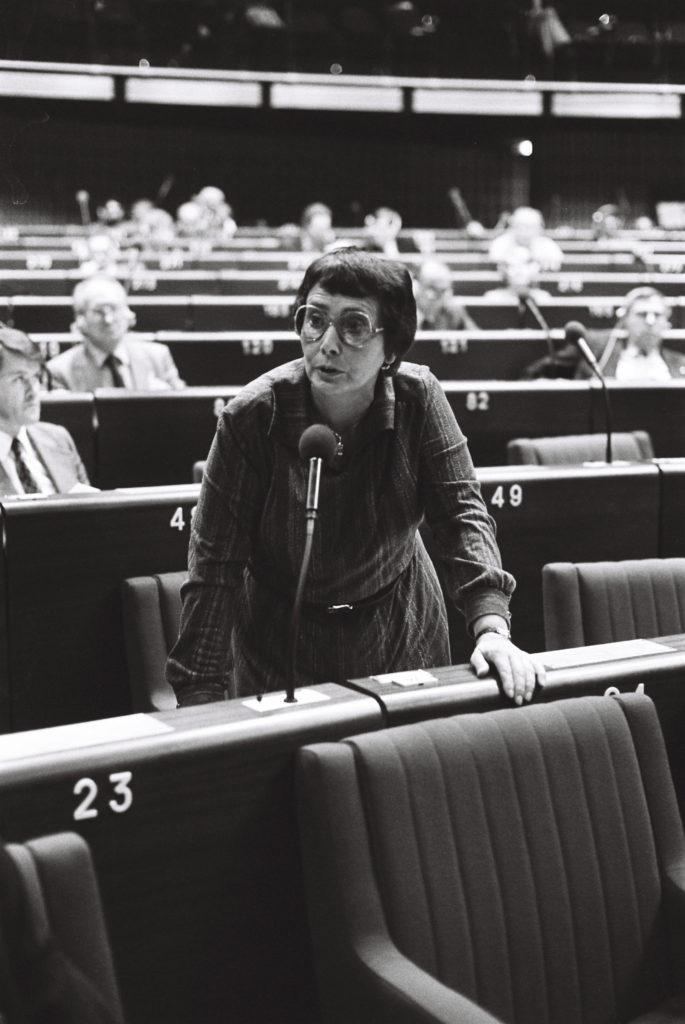 The MEP Ien VAN DEN HEUVEL during a session in Strasbourg in September 1979.
