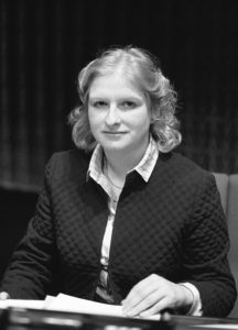 The MEP Sile DE VALERA during a session in May 1981.