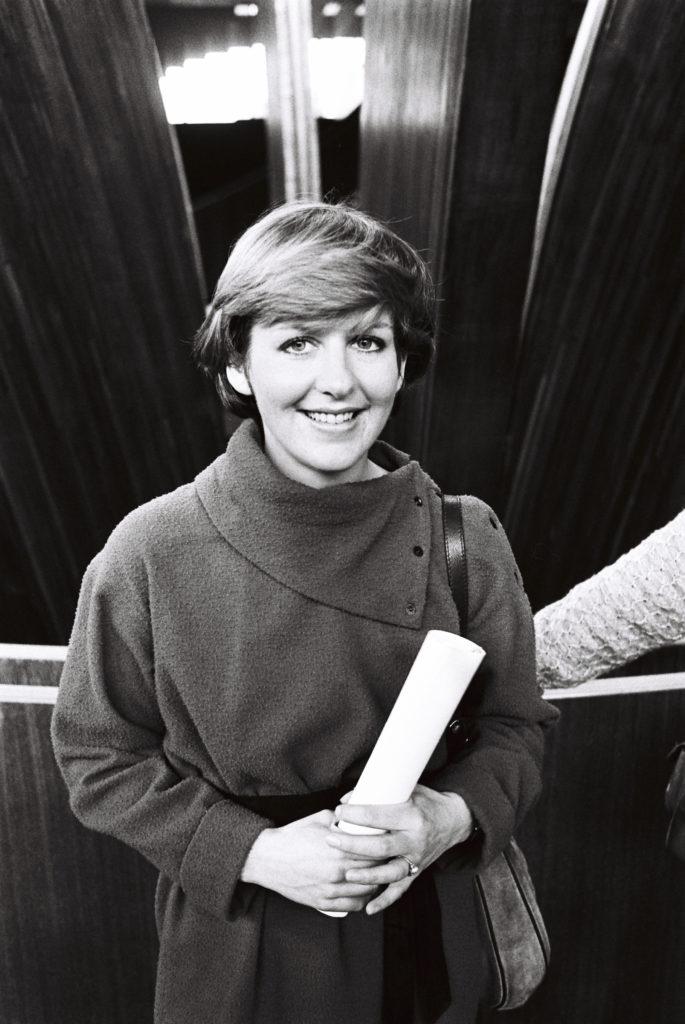Portrait of the MEP Suzanne DEKKER in the hemicycle of Strasbourg in November 1979.